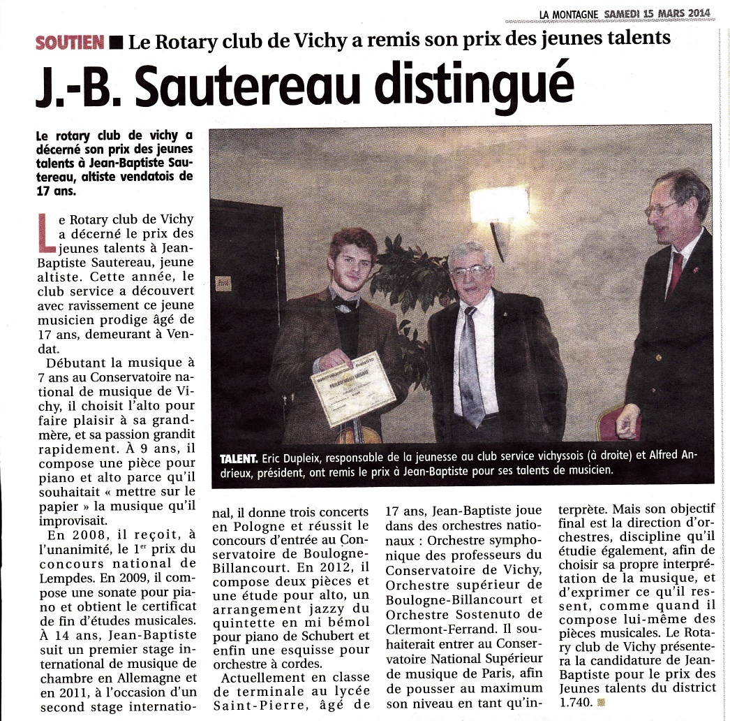 Article presse Talent